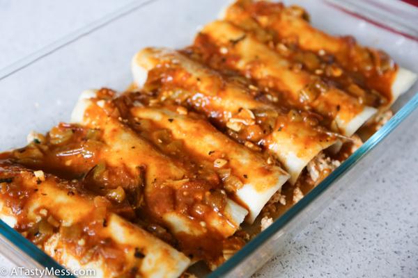 Skinny Hatch Enchiladas