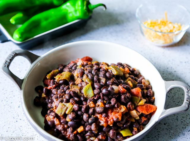 Hatch chili and black beans