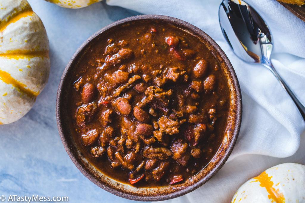 Crock Pot Pumpkin Turkey Chili